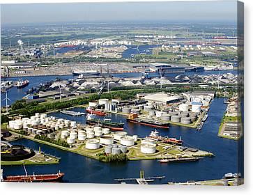 Port Of Amsterdam, Amsterdam Canvas Print by Bram van de Biezen