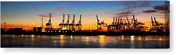Canvas Print - Port Of Hamburg Panorama by Marc Huebner