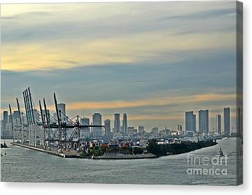 Port Of Miami Canvas Print by Gary Smith