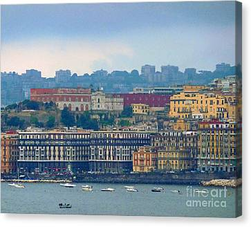 Port Of Napoli Canvas Print by Cheryl Del Toro