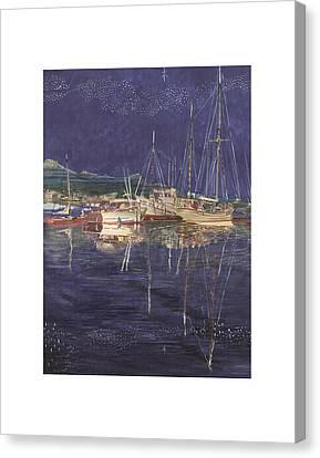 Wa Canvas Print -  Stary  Port Orchard Night by Jack Pumphrey