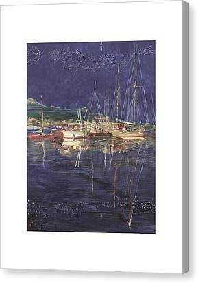 Stary  Port Orchard Night Canvas Print
