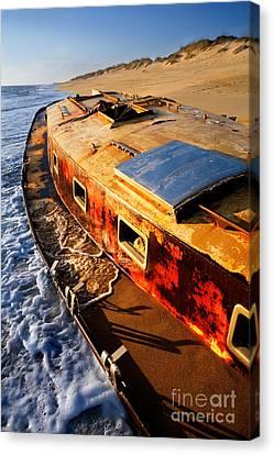 Port Side Down Captain - Outer Banks Canvas Print by Dan Carmichael