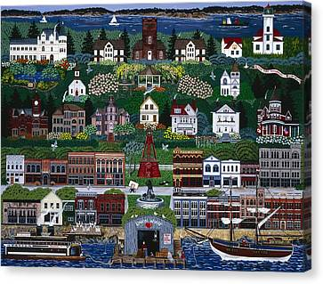 Canvas Print featuring the painting Port Townsend by Jennifer Lake