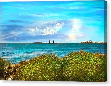 Florida Bridge Canvas Print - Port View by Mechala  Matthews