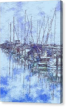 Milwaukee Lakefront Marina Canvas Print by Jack Zulli