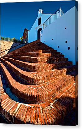 Canvas Print featuring the photograph Porta Coeli Steps by Ricardo J Ruiz de Porras