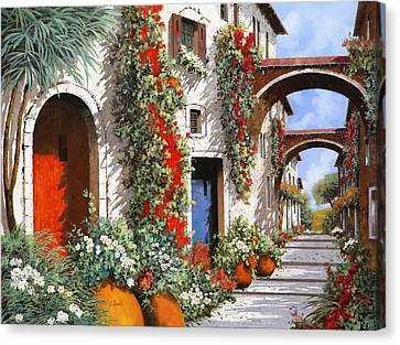 Porta Rossa Porta Blu Canvas Print by Guido Borelli