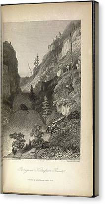 Portage In Hoarfrost River Canvas Print by British Library