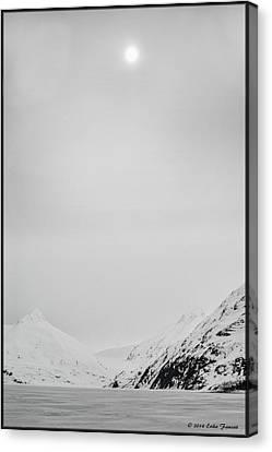 Portage Lake In Fog Canvas Print