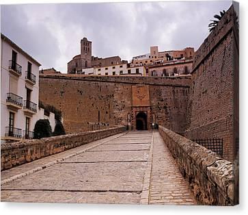Portal De Ses Taules In Ibiza Town Canvas Print