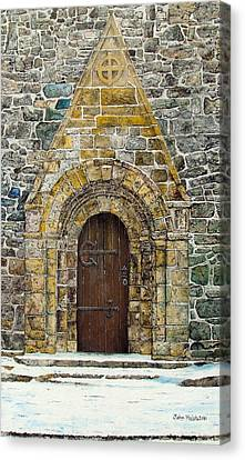 Portal Of St. Lachtain Canvas Print by John Walsh