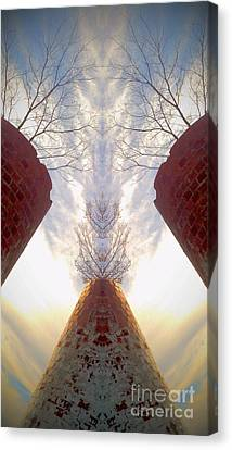 Canvas Print featuring the photograph Portal Of The Silos by Karen Newell