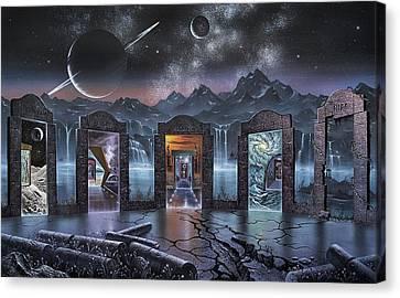 Portals To Alternate Universes, Artwork Canvas Print