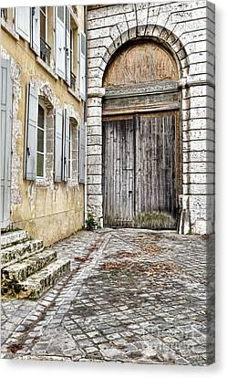 Porte Cochere Canvas Print by Olivier Le Queinec