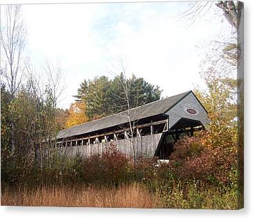 Porter Covered Bridge Canvas Print by Catherine Gagne