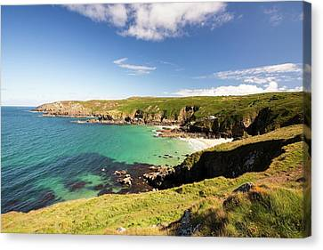 Porth Glaze Cove Near Gurnards Head Canvas Print by Ashley Cooper