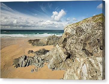 Porth Joke On Pentire Point Canvas Print by Ashley Cooper