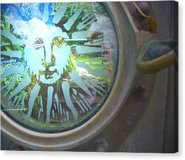 Porthole To The Secret Garden Canvas Print
