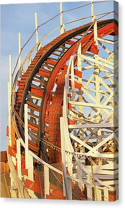 Portion Of Rollercoaster Canvas Print