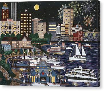 Portland @ Night Canvas Print