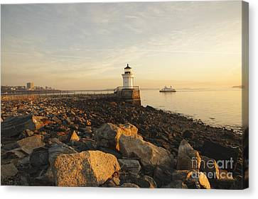 Portland Breakwater Light - Portland Maine Canvas Print by Erin Paul Donovan