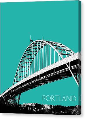 Portland Bridge - Teal Canvas Print by DB Artist