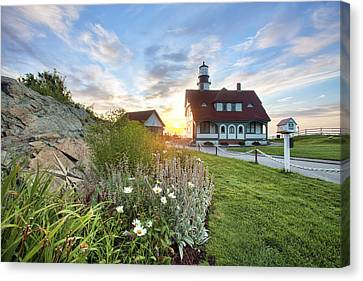 Portland Head Garden Canvas Print by Eric Gendron