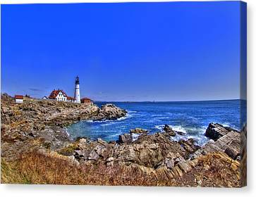Portland Head Light 4 Canvas Print by Joann Vitali
