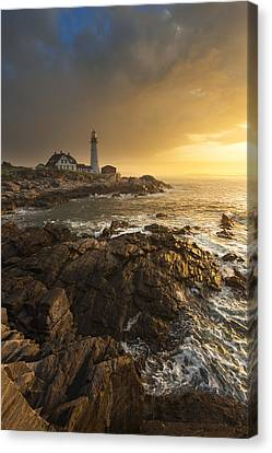 Portland Head Light Canvas Print by Joseph Rossbach