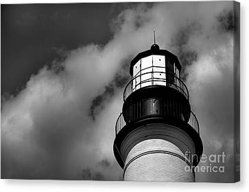 Portland Head Lighthouse In Black And White Canvas Print by Diane Diederich