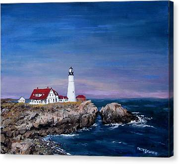 Portland Head Lighthouse Canvas Print by Jack Skinner