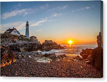 Portland Head Sunrise Canvas Print