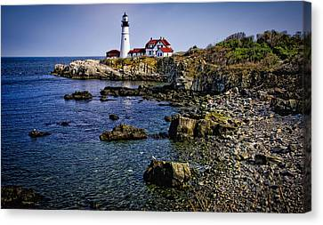 Portland Headlight 36 Canvas Print