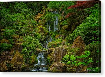 Portland Japanese Gardens Canvas Print by Jacqui Boonstra
