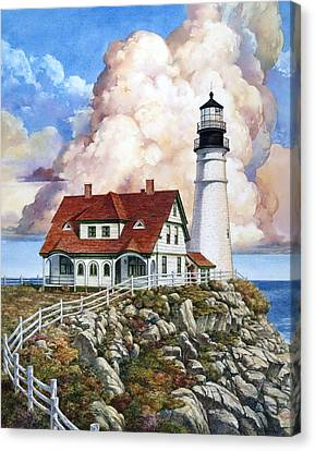 Portland Light Canvas Print
