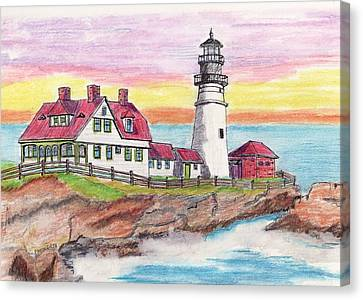 Portland Me Lighthouse Canvas Print