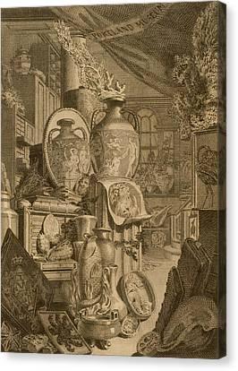 Portland Museum, 1786 Canvas Print