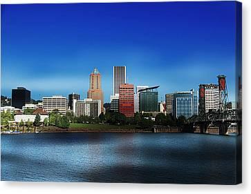 Oregon Canvas Print featuring the photograph Portland Oregon by Aaron Berg