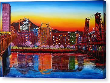 Portland Oregon Sign 18 Canvas Print by Portland Art Creations