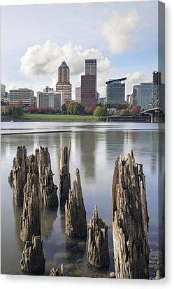 Portland Oregon Waterfront Canvas Print