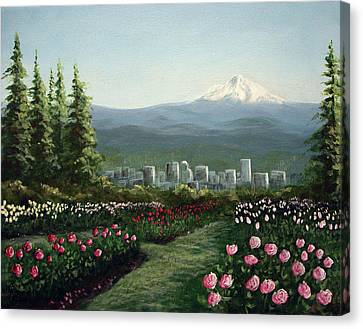 Portland Rose Garden Canvas Print by Kenny Henson