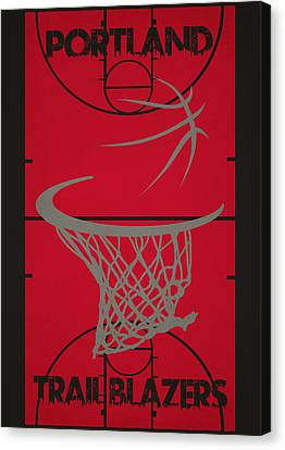 Portland Trail Blazers Court Canvas Print