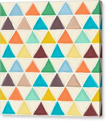 Pattern Canvas Print - Portland Triangles by Sharon Turner