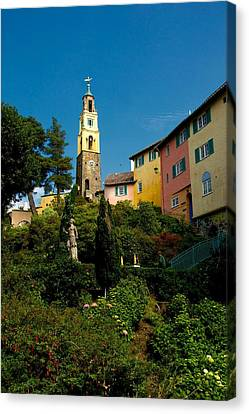Canvas Print featuring the photograph Portmerion by Stephen Taylor