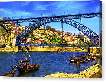 Porto Barges Canvas Print