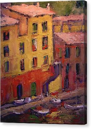 Portofino Afternoon Canvas Print by R W Goetting