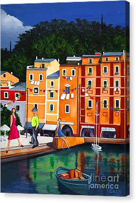 Portofino Art Print Canvas Print by William Cain
