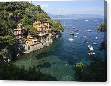 Portofino Coast Canvas Print by Christian Heeb