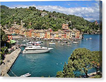 Portofino From Above Canvas Print by Nancy Ingersoll